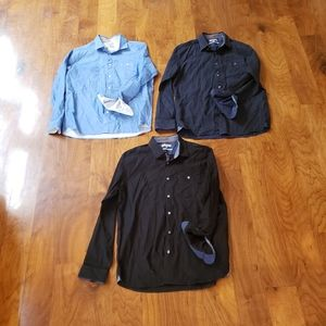 THREE TED BAKERS LONG SLEEVE SIZE 5 SHIRTS
